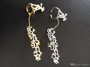 خواتم شخصية الجوف معدنية Rhinesone حلقة السيدات هدية ذهبية فضية RING