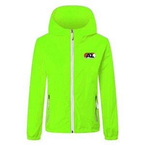 AZ Alkmaar Футбольная ветровка Куртки сплошной цветной ветровки на молнии с капюшоном Куртка с капюшоном Световые пальто Спортивные Спортивные повседневные хип-хоп мужские куртки4