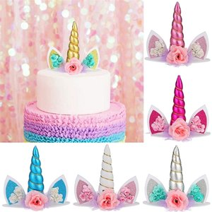 Topper Birthday Decorations Kids Decor Unicorn Party Supplies Baby Shower Cake Toppers