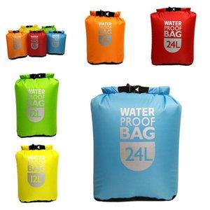 Storage Bags 6L 12L 24L Ultralight Waterproof Dry Bag Outdoor Rafting Swimming Beach Nylon Kayaking Drifting