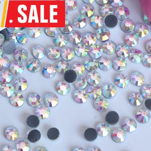 Big Promotion! 2880pcs 3mm SS12 DMC Crystal AB Iron On Hot Fix Rhinestone Clear AB Hotfix Stones for Wedding Dress Shoes Y3842