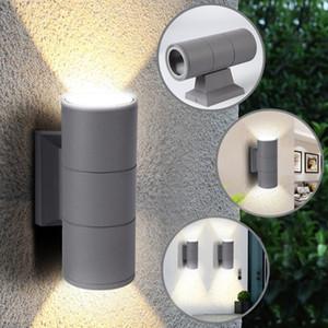 Up And Down Wall Light Scrub Black Grey Outdoor Garden Door Lamp Waterproof Patio Lights Double Head Wall Light 1pc