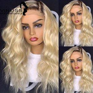 1B / 613 # Honey Blonde Spitze-Front-Menschenhaar-Perücke Wave 4 * 4-Spitze-Schliessen Perücken Ombre Pre Zupforchester für schwarze Frauen-brasilianisches Haar Discount Fu U4PQ #