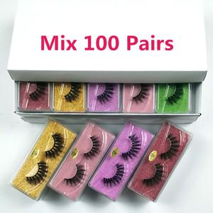 Wholesale Eyelashes 30 40 50 100 Pairs 3d Mink Lashes Bulk Natural Long Eyelashes Wholesale False Eyelashes Makeup Lashes