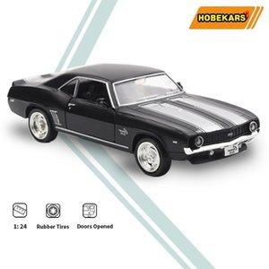 HBEKARS RMZ 1:36 Diecast Model Oyuncak Araba Camaro 1969 SS Simülasyon Metal Alaşım Kas Araba Oyuncaklar Araçlar Çocuklar Çocuklar Için Hediyeler LJ200930