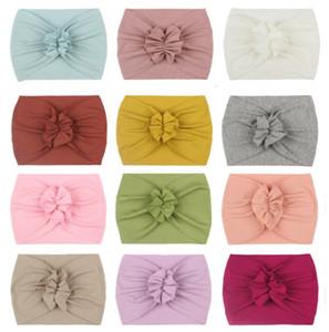 Baby Headbands Girl Nylon flower Headwrap Newborn Stretchy Turban Toddler Headwear Bebe Hair Accessories Photo Prop