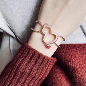 Bracelet Gourd Twist Bracelet chaîne ouverte Bijoux femmes bijoux de mariage Bonne chance Lace1