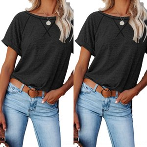 Qzop Fashion Womens Hollow fashion Long Loose T-Shirt Out Sleeve Casual Drilling Crew Neck Blouse Plus Tee Tops Size