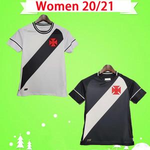 Mulheres 20 21 Club Vasco da Home Away Gama Futebol Jersey Meninas 2020 2021 Maxi Rios Paulinho Fabiano Preto Branco Futebol Camisa