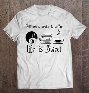camisa dos homens t t-shirt Pesadelo Livros Coffee Sweet Life mulheres é esporte moletom com capuz Hoodie