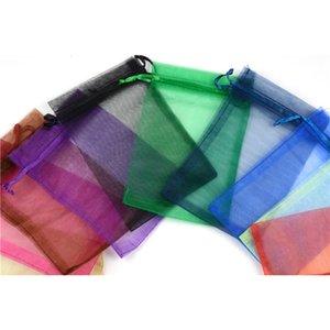Drawstring gift bag transparent organza chiffon pearl yarn bag 7*9CM jewelry bag bundle pocket wedding wholesaleps2165