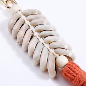 1 pcs estilo marinho shell borla franjas diy jóias vestes saco acessórios decorativos chaveiros pingente artesanato de algodão tassels h jlgyu