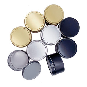 Candle Jars Round Tinplate Boxes 100ML 65*40 Leakproof Solid Cream Box Hair Wax Box Aromatherapy Candle Jars XD24143