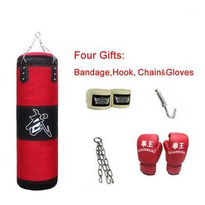 Adulte Boxing Fitness vide Sandbag Poinçonnage Sac de support et bandage As Équipement de karaté Gants de boxe pour enfants Accessoires1