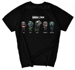 Rainbow Six Siege verão de algodão de Tom Clancy manga curta t-shirt 4956X