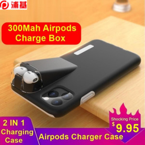 2IN1 Case For iPhone XS Se2 11 Pro Max Coque XR X 8 7 6 Plus Cover For Apple Airpods 2 1 With 300Mah Charging Box