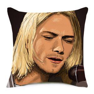 12 estilos de Rock and Roll Music Band cubiertas del amortiguador Slipknot Nirvana Kurt Cobain Cojín Sofá Throw decorativo Funda de almohada de lino