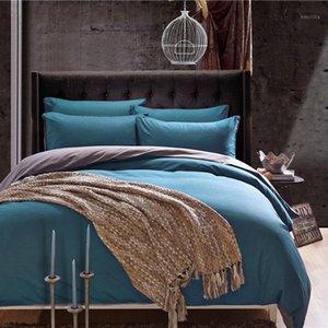 Pure cotton 100% cotton pure color reactive dyeing bed sheet set 1.0m bed linen children's bedding set Quilt bedding duvet1