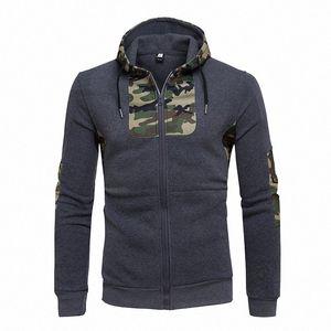 Der Designer Sweatshirts Männer Kapuzenshirt Camouflage Patchwork Kleidung Lässige Hoodie Herrenjacken M16F #