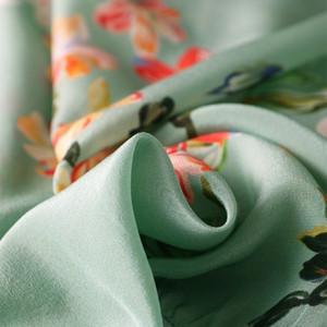 SUYADREAM MUJER MUJER SELG CHAILTS 100% Seda Floral Print Sweatshirts Spring Summer Outwear 201202