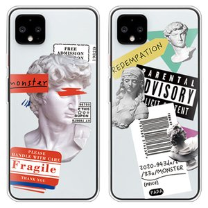 Luxury Art Letter Label Phone Case For Google Pixel 4XL 3aXL 3XL TPU Soft Silicone Clear Coque For Google Pixel 2 3 4 XL Fundas