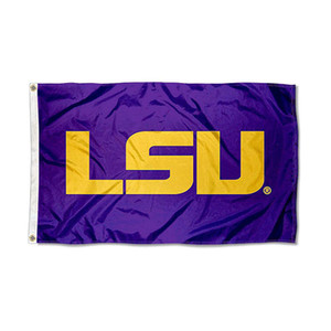 Louisiana State LSU Tigers Purple Flag Free Shipping 150x90cm Printing Polyester Team Club Sports Team Flag With Brass Grommets