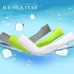 Sun-proof Breathable Unisex Ice Silk Golf Sport Sleeves UV protective Outdoor Armguard for Hiking Running Biking Fishing