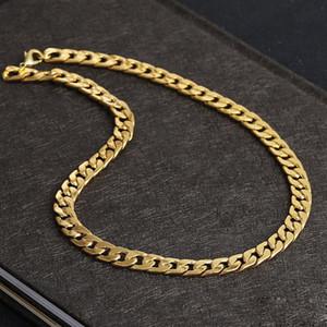 أبدا تتلاشى الأزياء الفاخرة figaro سلسلة قلادة 4 أحجام الرجال مجوهرات 18 كيلو حقيقي الذهب الأصفر مطلي 9 ملليمتر سلسلة قلادات للنساء رجالي