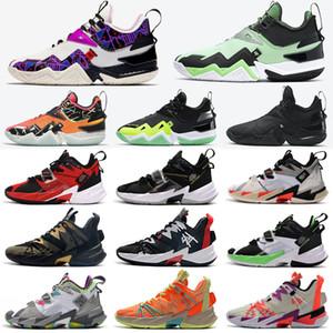 2020 NUOVO RUSSELL WESTBROOK III 3.0 Perché non zero.3 scarpe da pallacanestro arcobaleno nero leopardo grano jumpman sneakers sportivi taglia 40-46