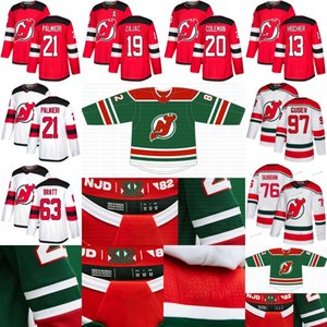 New Jersey Devils 2021 Ters Retro Formalar Jack Hughes Nico Hischier P.K.Subban Kyle Palmieri Cory Schneider Severson Nikita Gusev Brodeur