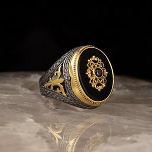 Кластерные кольца Onyx Coneen Contying с шикарным серебряным кольцом