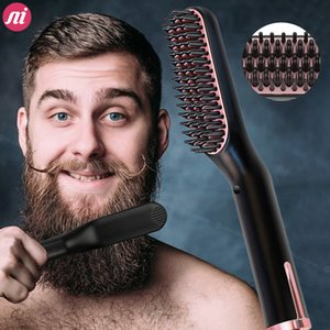 Men Beard Hair Straightener Professional Comprehensive Hair Brush Curling Iron Stragging Hair Curler Hot Heating Comb Free Shipping