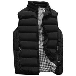chaqueta de los hombres del chaleco del algodón de los hombres chaquetas de invierno chalecos Hombre gruesa chaqueta sin mangas abrigos Hombre Nuevo Caliente Chaleco Chaleco Veste Homme