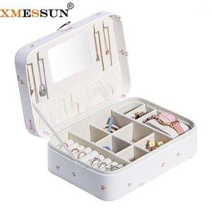XMESSUN Dibujos animados Imprimir Lápiz labial Caja de almacenamiento Casos de cosméticos Caja de joyería Cajas de cuero de almacenamiento de moda Nuevo estilo Protable Ins1