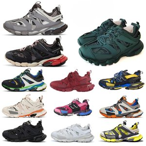 Top Paris 3.0 Track s Triple s Clunky Sneakers Grey Orange mens Blue Version Designer women men Sport shoes Sneaker Size 36-45