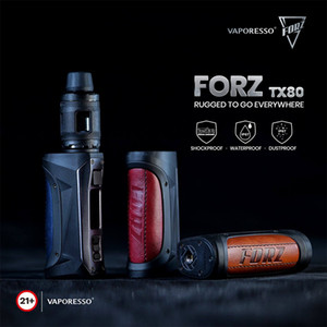 Vaporesso FORZ TX80 VW Kit 80W MOD Shockproof Waterproof AXON 2,0 CHIP 4.5 ml FORZ TANK GTR Malha Bobina 100% Authentic