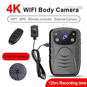 4K 2K 1440P 1296P 1080P Wi-Fi GPS 1296P HD Code Code Worn Cam 2-дюймовый дисплей ночного видения видео рекордер