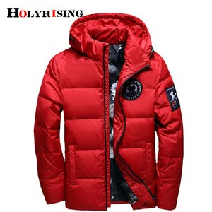 Holyrising jaqueta masculina men down jacket Men hooded down coat casaco masculino inverno Men Winter thin Duck Down18381 201104