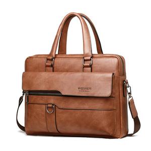 de Nova Homens de Negócios Briefcase Masculino Ombro Casual Crossbody Vintage Zipper Homem Messenger Bag Laptop sacos Luxary Marca
