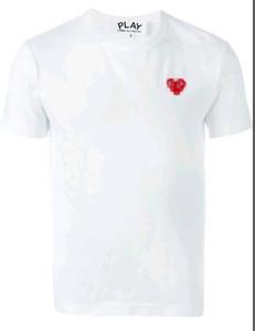 2019 COM Qualité Hommes Femmes Gery Comme des Garçons poignée totale T-shirt blanc décision rapide Taille M F S