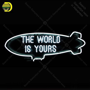 Neon Sign The World Is yours Neon Bulbs sign handcraft Real Glass Tubes Room Home signboard vintage neon light anuncio luminos