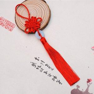 8 colores de la suerte chinas nudos Bastante Jade decoración DIY de la trenza de la artesanía colgantes de accesorios de moda del interior ZZF2297