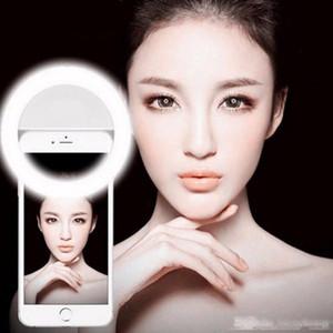 Selfie universal portátil LED de la cámara del teléfono Fotografía Fotografía Mejora Luz del anillo para Iphone X 8 7 6 5 Samsung Xiaomi