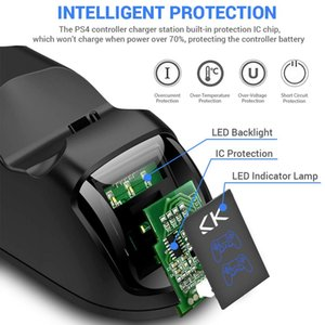 Charge Rapide Ps4 Dock Double Contrleurs Chargeur Station De Charge Manette Support De Support Pour Sony Playstation 4 Ps4 Pro sqcpCe