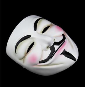 Bianco V maschera maschera maschera eyeliner halloween maschera full faccia maschere party puntelli vendetta anonimo film ragazzo all'ingrosso spedizione gratuita ewd2117