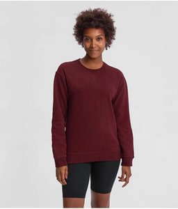 L015 long sleeve crew terry round neck sweater Fitness T Shirt woman yoga Womens Gym Tops Sport wear women running top