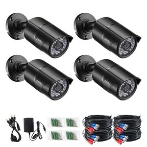 4pcs lot 1080p 4in1 CCTV Security Cameras ,100ft Night Vision ,Outdoor Whetherproof Surveillance Camera Kit Surveillance Siren Alarm