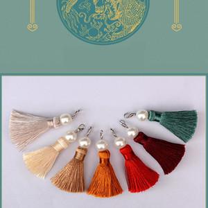 2pcs Pack Imitation Pearl Pendant Tassel Fringe Diy Keychain Cellphone Straps Purses Backpacks Jewelry Charms Decorate Tassel H bbyuaj