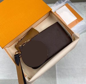 designer wallet 3pcs set card holder genuine leather top quality designer purse fashion 2020 new style clutch with box