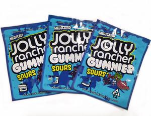 Disponibile pronto per la spedizione commestibile Gummy Candy Food Bag Imballaggio da imballaggio medicata Jolly Rancher Gummies Aid 3.5g Borsa Mylar